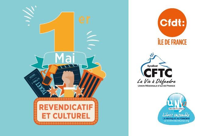 1erMai revendicatif et culturel au FIAP Jean Monnet à Paris