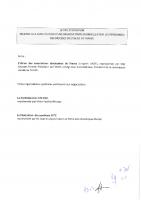 BRANCHE – LETTRE D'INTENTION Signée – 02/2016