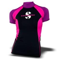 חולצת t-flex נשים , שרוול קצר, סגול