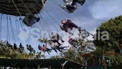Amusement Park, Blue Sky, Child, Cloud, Countryside, Hammock, Hanging-stage, House, Nature, Palm Tree, Plant, Sun Light, Swinging, Tree, Wind