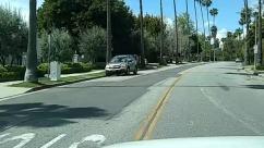Automobile, City, Grass, Housing, Neighborhood, palm trees, Road