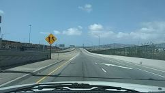 Animal, Asphalt, Bridge, Building, City, Freeway, Highway, Road, Road Sign, Sign, Street, Symbol, Tarmac, Town, Urban, Windshield