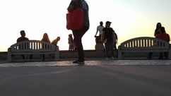 Person, Human, Furniture, Bench, Silhouette, People, Outdoors, Nature, Walking, Sky, Pedestrian, Sitting, Working Out, Exercise, Sport