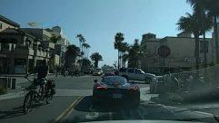 Vehicle, Automobile, Transportation, Car, Person, Bicycle, Bike, Road, Urban, City, Town, Building, Pedestrian, huntington beach, main street
