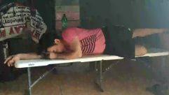 Asleep,Sleeping,Person,Bench,Park Bench,Head,Cushion,man sleeping