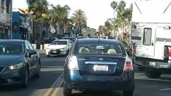 Automobile, Car, Vehicle, Transportation, Truck, Person, Road, License Plate, Plant, Tree, Traffic Jam, Sedan, Pedestrian, Palm Tree, Arecaceae