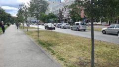 Person, Automobile, Car, Vehicle, Transportation, Road, Path, Urban, Wheel, Machine, Town, Building, Street, City, Neighborhood