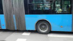 Road, Asphalt, Tarmac, Person, Transportation, Vehicle, Automobile, Car, Pedestrian, Bus, Machine, Wheel, Bike, Bicycle, Zebra Crossing
