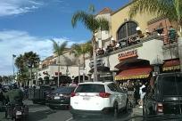Transportation, Automobile, Car, Vehicle, Person, Urban, Town, City, Building, Metropolis, Bumper, Motorcycle, Tree, Plant, Downtown