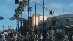Person, Light, Traffic Light, Pedestrian, Car, Transportation, Vehicle, Automobile, Building, Urban, City, Town, Crowd, Grand Theft Auto, People