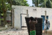 Building, Shorts, Urban, Countryside, Rural, Shelter, Housing, Shipping Container, House, Pants, Back, Slum, Bunker, Shooting Range, Bus Stop