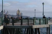 Water, Waterfront, Dock, Pier, People, Boardwalk, Path, Pedestrian, Railing