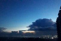 Weather, Cloud, Sky, Cumulus, Landscape, Scenery, Panoramic, Light, Flare, Azure Sky, Building, Night, Water, Lighting, Astronomy