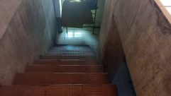 Staircase, Banister, Handrail, Building, Room, Interior Design, Window, Floor, Lighting, Housing, Skylight, Crypt, Basement, Corridor