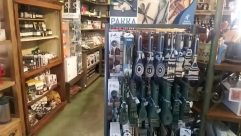 Shelf, Armory, Weapon, Weaponry, Pantry, Shop, Furniture, Wood, Refrigerator, Appliance, Museum, Interior Design, Pharmacy, Cabinet, Gun