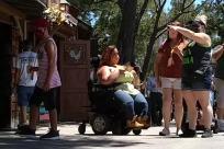 People, Wheelchair, Walking, crowd, mask