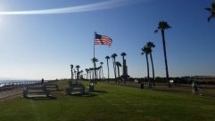 Grass, Plant, Symbol, Flag, Vehicle, Bicycle, Bike, Furniture, Bench, Wheel, Lawn, American Flag, Car, Automobile, Tree