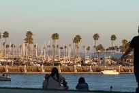Water, Vacation, Waterfront, Dock, Harbor, Pier, Port, Building, Marina, Pants, City, Town, People, Tourist, Sitting