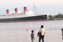 Boat, Vehicle, Watercraft, Vessel, Ship, Cruise Ship, People, Photography, Photo, Portrait, Face, Water, Shoreline, Pants, Ocean