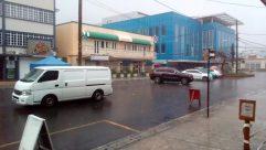 Wheel, Automobile, Car, Vehicle, Van, Canopy, Umbrella, Moving Van, Caravan, Road, Building, City, Town, Parking Lot, Parking