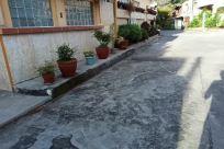 Path, Walkway, Building, Town, City, Road, Street, Concrete, Plant, Jar, Potted Plant, Pottery, Vase, Slate, Housing