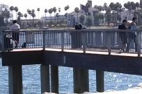 Water, Waterfront, Dock, Pier, Port, Building, Bridge, Railing, Boardwalk, Angler, Fishing, Housing, Banister, Handrail, Path