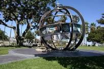 Gate, Sphere, Grass, Plant, Astronomy, Planet, Building, Town, Downtown, City, Globe, Path, Porch, Arbour, Garden