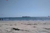 Water, Ocean, Sea, Shoreline, Beach, Coast, Sand, Bird, Soil, Kite, Toy, Vehicle, Boat, Ground, Wood