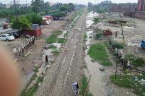 Bridge, Rail, Railway, Train Track, Pollution, Field, Neighborhood, Ditch