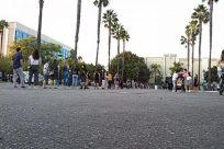 City, Downtown, Town, Building, Path, Walkway, Pavement, Sidewalk, Road, Neighborhood, Plant, Tree, Walking, Street, People