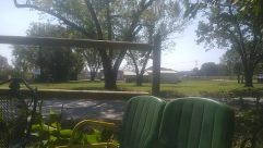 Grass, Plant, Furniture, Vegetation, Yard, Chair, Patio, Tree, Porch, Land, Forest, Woodland, Park, Lawn, Grove