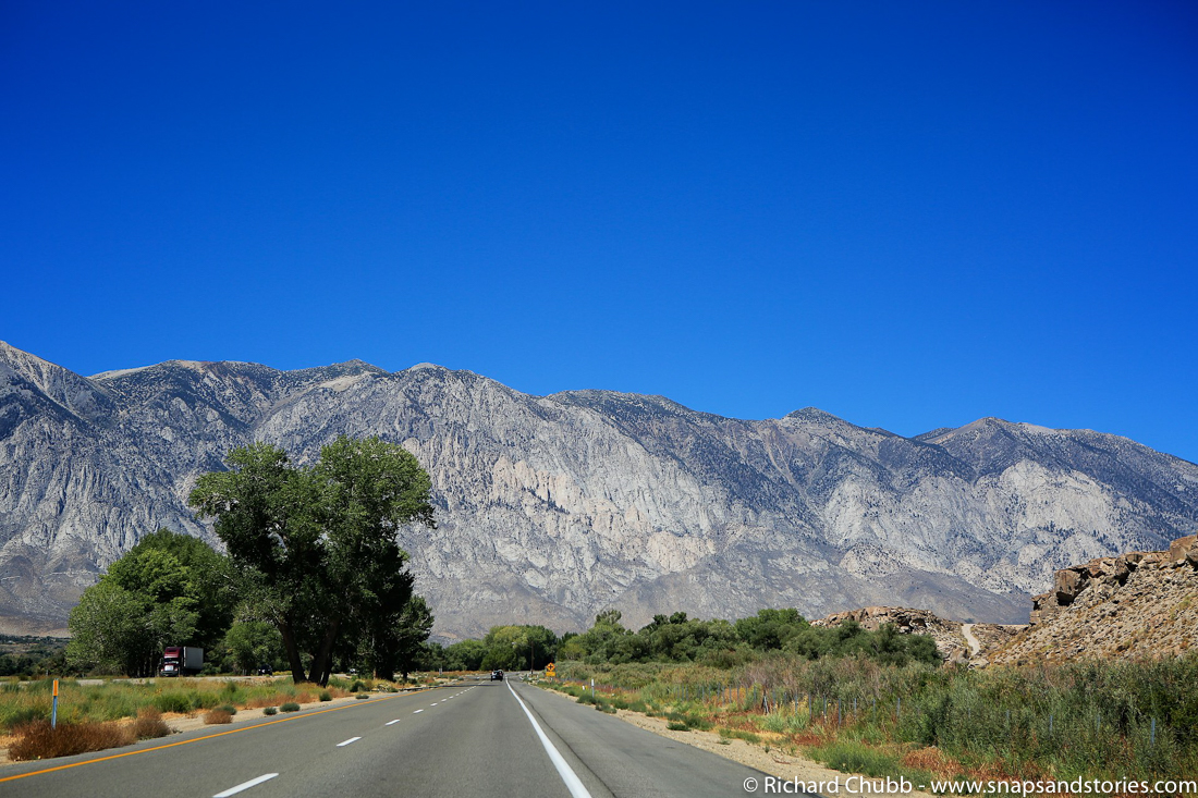 mountains on drive from lone pine
