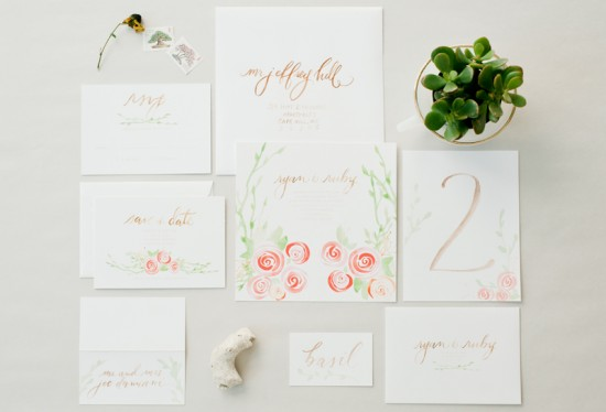 Garden-Calligraphed-Wedding-Invitations-Hazel-Wonderland-550x374
