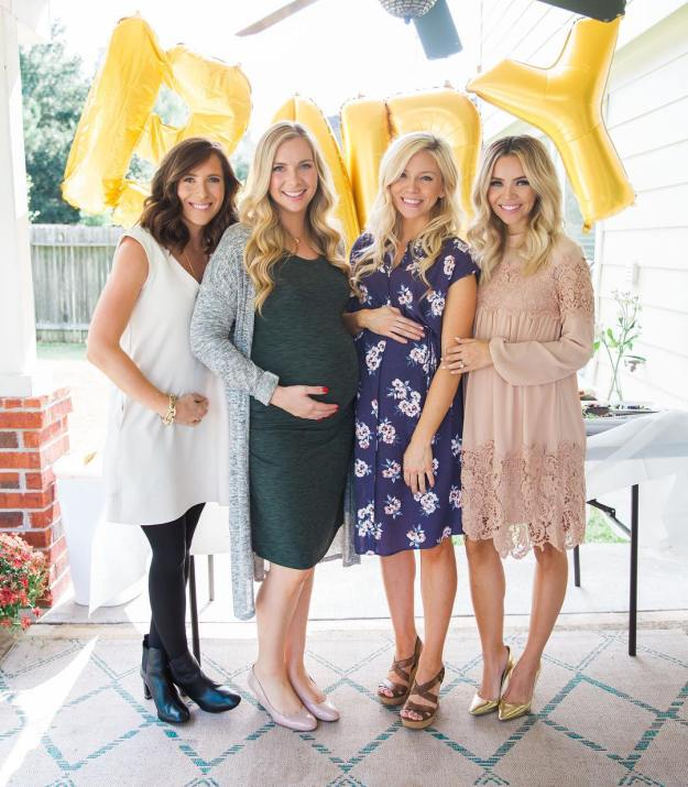 Four pregnant friends with three due dates within four weeks!hellip