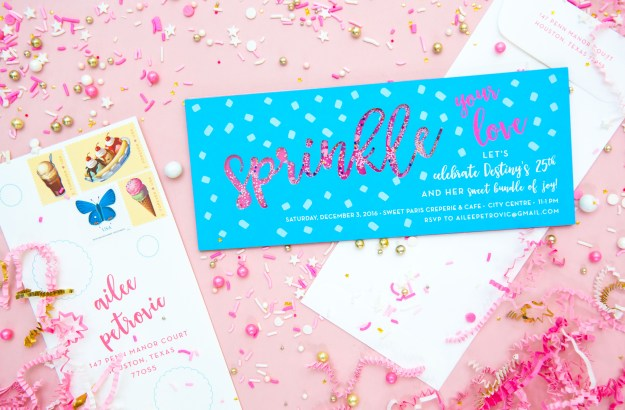 Baby Sprinkle Girl Creative Shower Real Sprinkles Invitation on Snapshots and My Thoughts by Ailee Petrovic