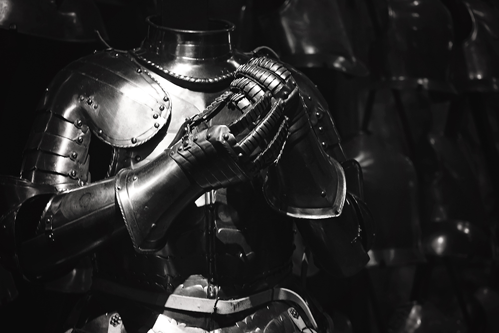 London Tower Armor black and white