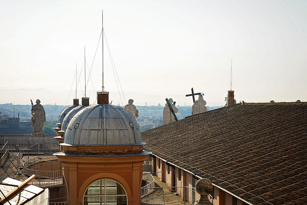 on top of the Vatican