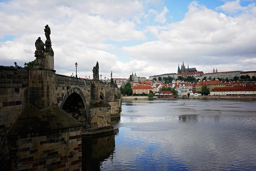 Prague Charles bridge and castle