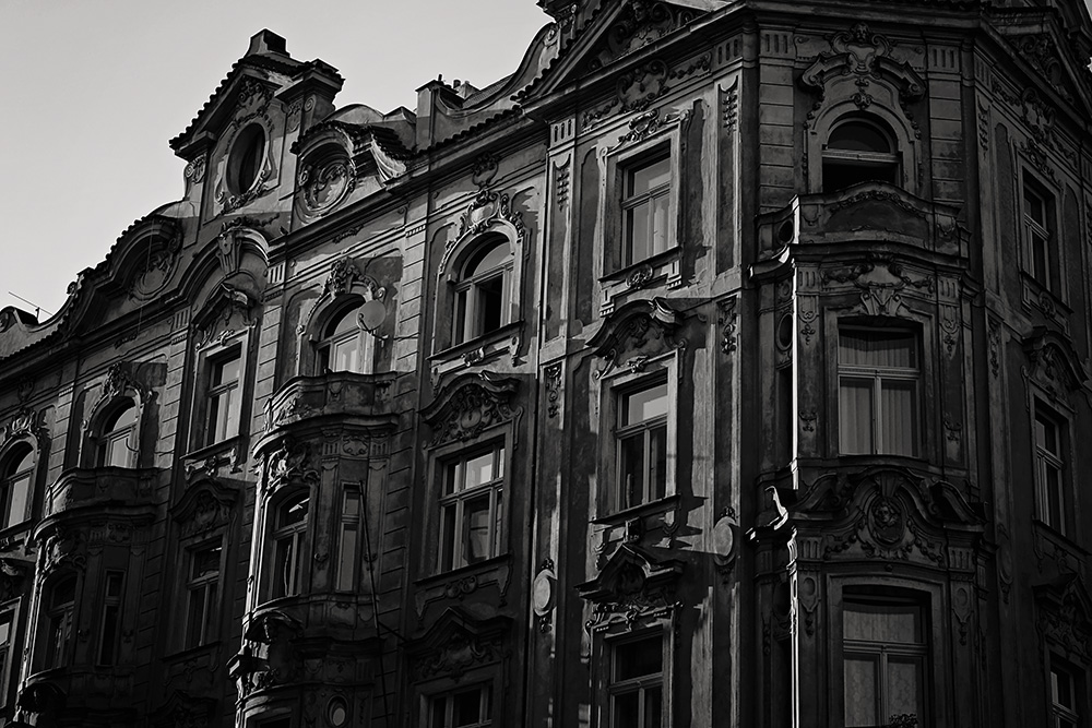 Prague black and white