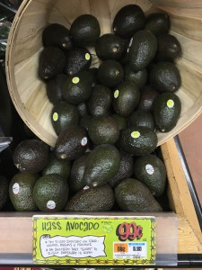 Basket of Ripe Hass Avocados at Trader Joes, Priced at 99 Cents Each