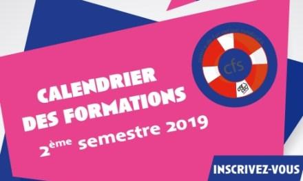 Centre de Formation Syndicale (CFS) : Calendrier des formations du Second semestre 2019