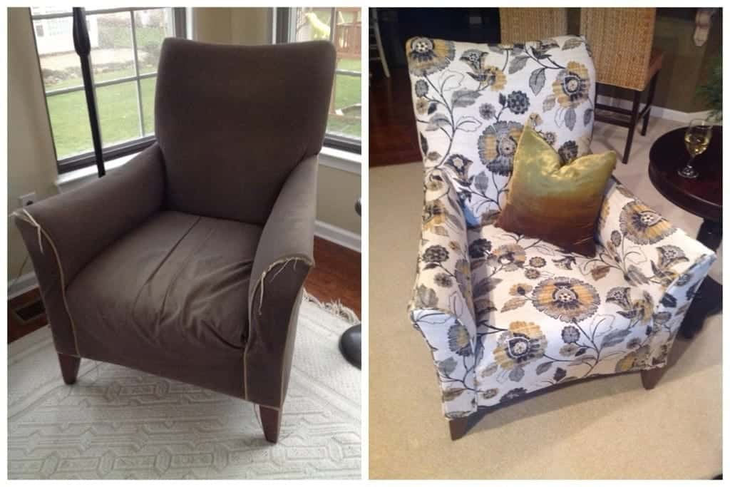 diy reupholster living room chair swivel arm chairs reupholstery tutorial