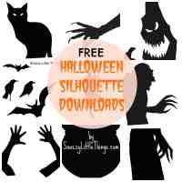 Halloween Window Silhouettes Free Download