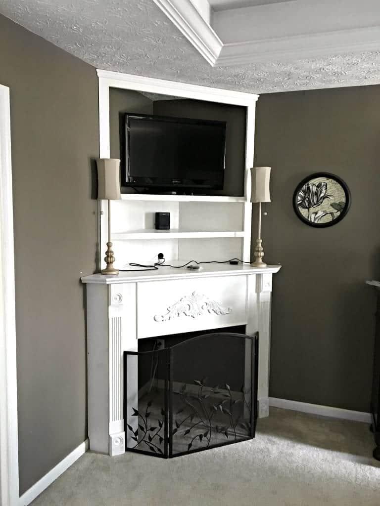 title | Corner Fireplace Mantel