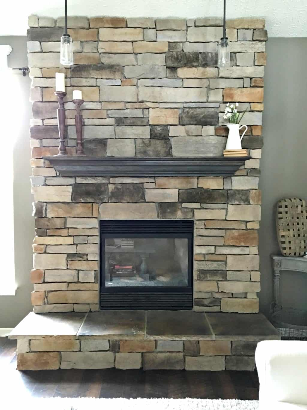 How To Paint A Stone Fireplace