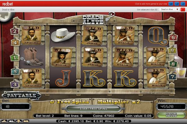 Big Win on Dead or Alive Slot at Redbet Casino