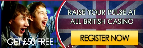 All British Casino 26 Free Spins No Deposit