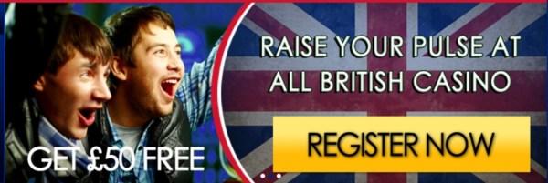 All British Casino 26 Free Spins No Deposit