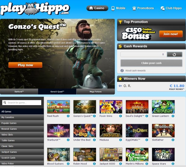 PlayHippoCasino.com - 10 Free Spins on Boom Brothers
