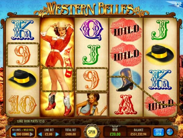Western Belles IGT Slot